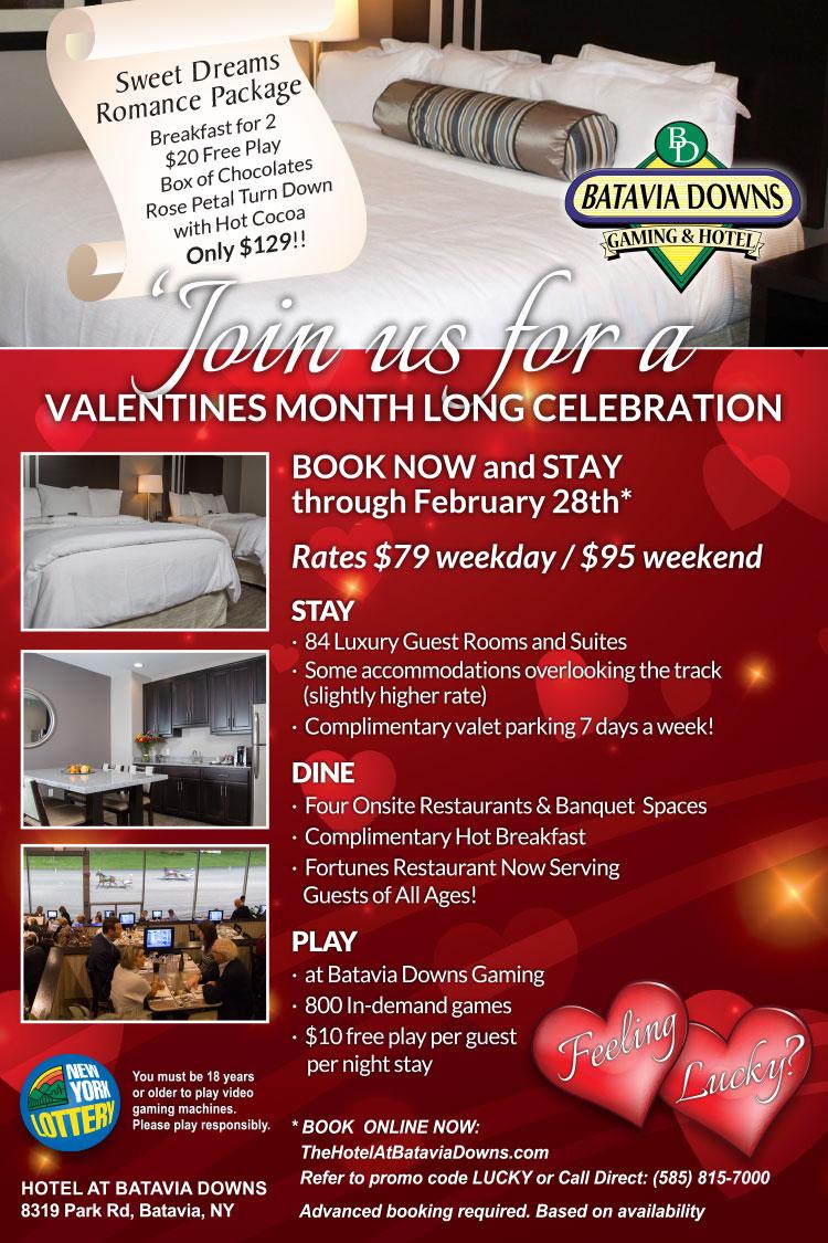 Hotel at Batavia Downs February Hot Rates