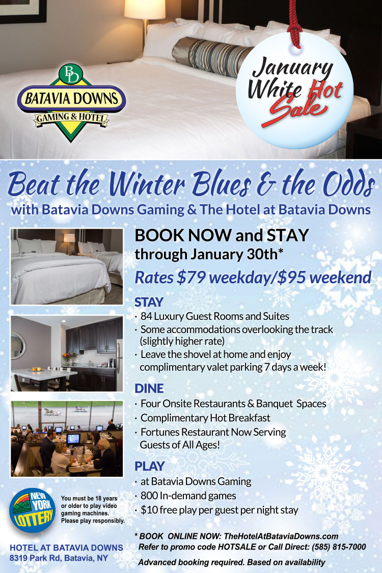 Hotel at Batavia Downs January Hot Rates