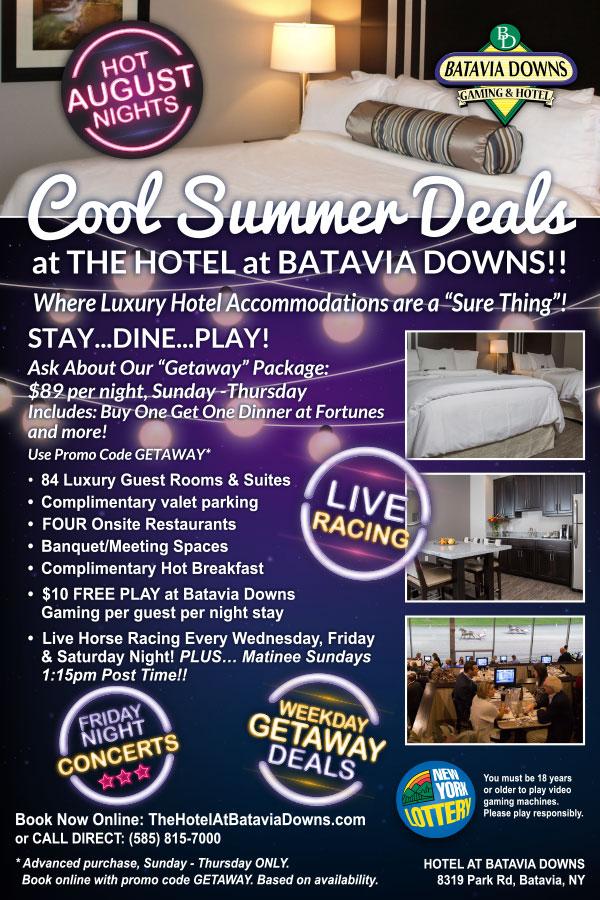 COOL august deals hotel at batavia downs