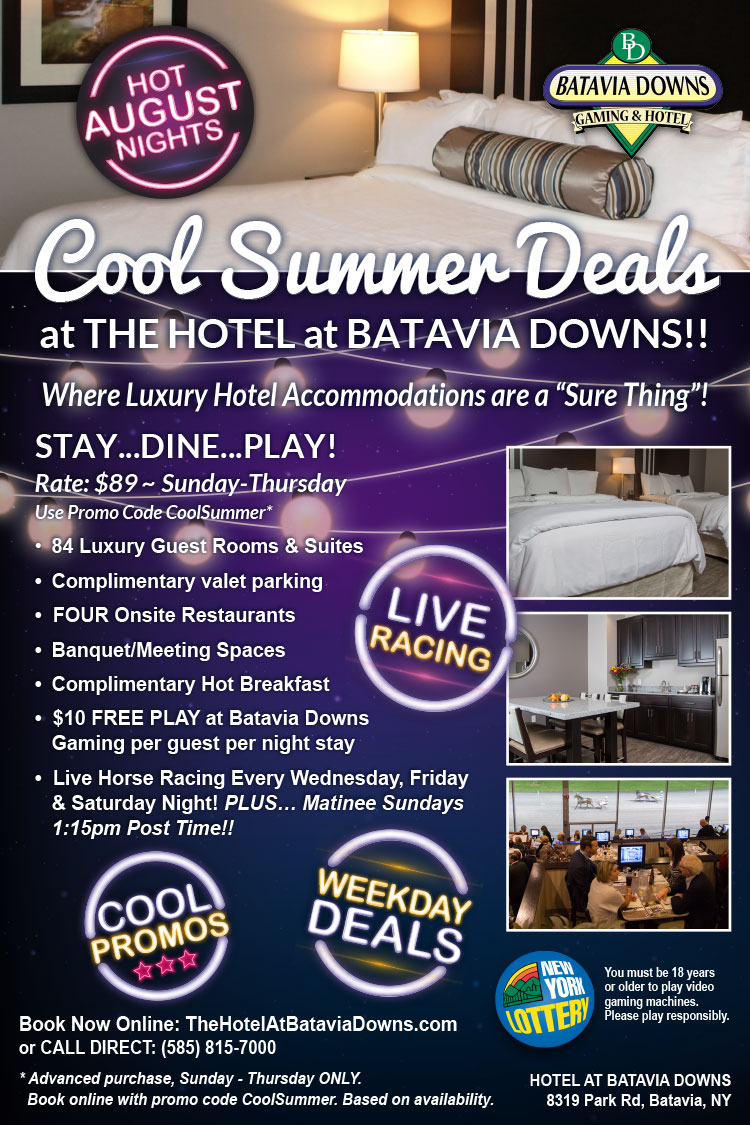 COOL august deals hotel at batavia downs