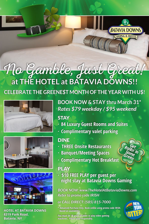 Hotel at Batavia Downs March Special