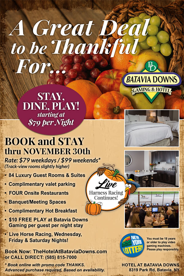 November deal Hotel at Batavia Downs