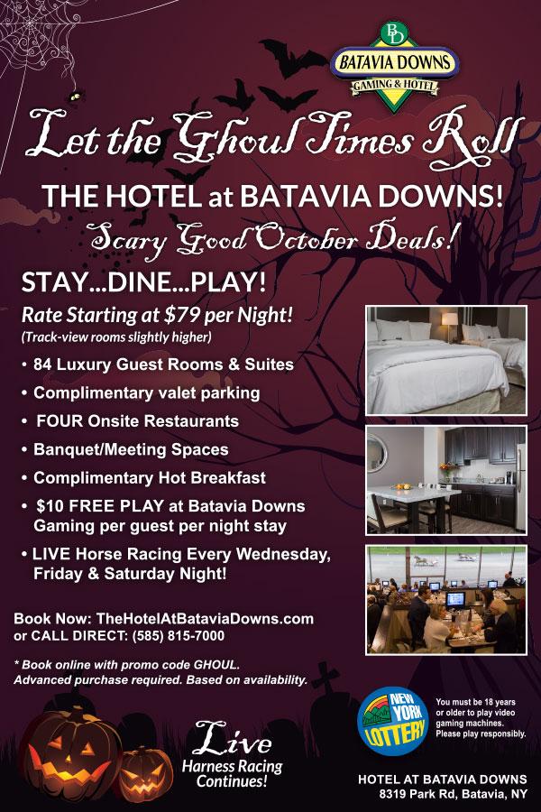 Hotel at Batavia Downs October Deal