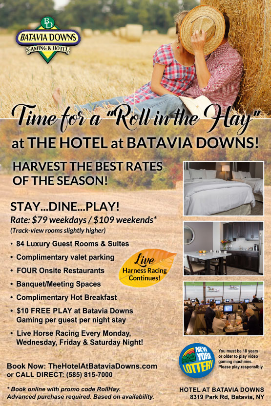 hotel at batavia downs september special