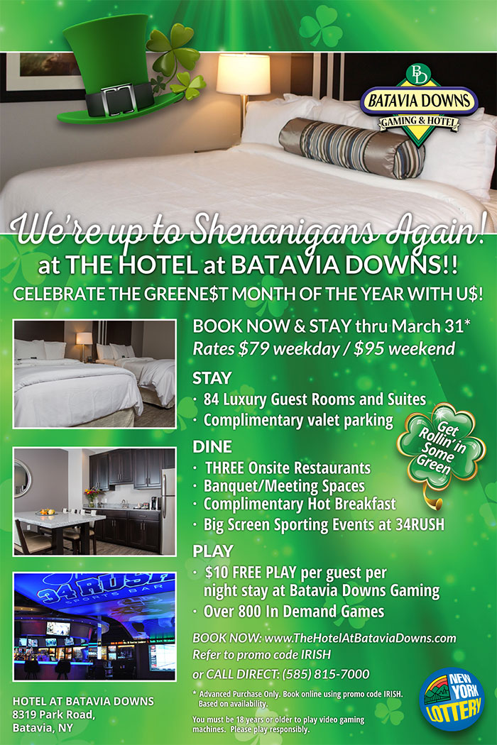 March offer at Hotel at Batavia Downs