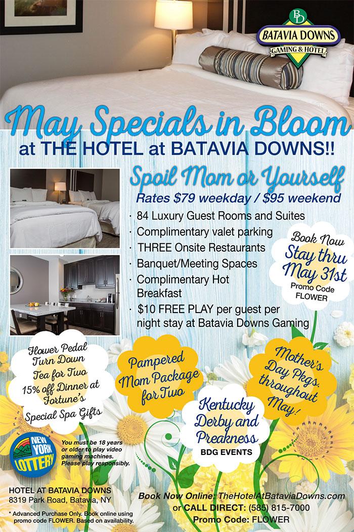 Hotel at Batavia Downs May Special