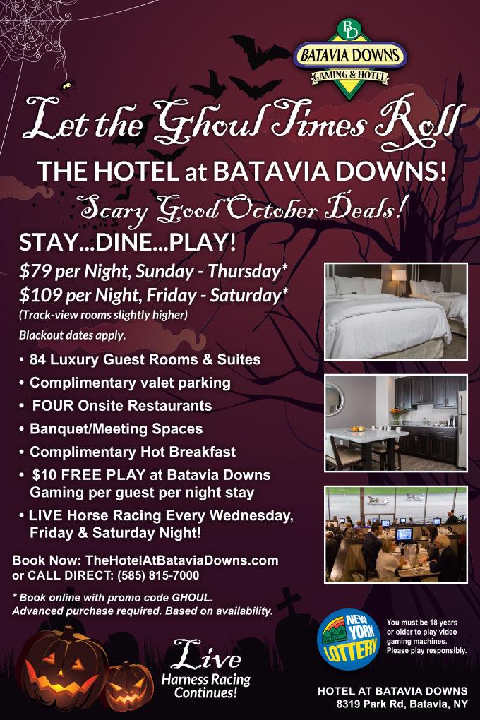 October special 2019 Hotel at Batavia Downs