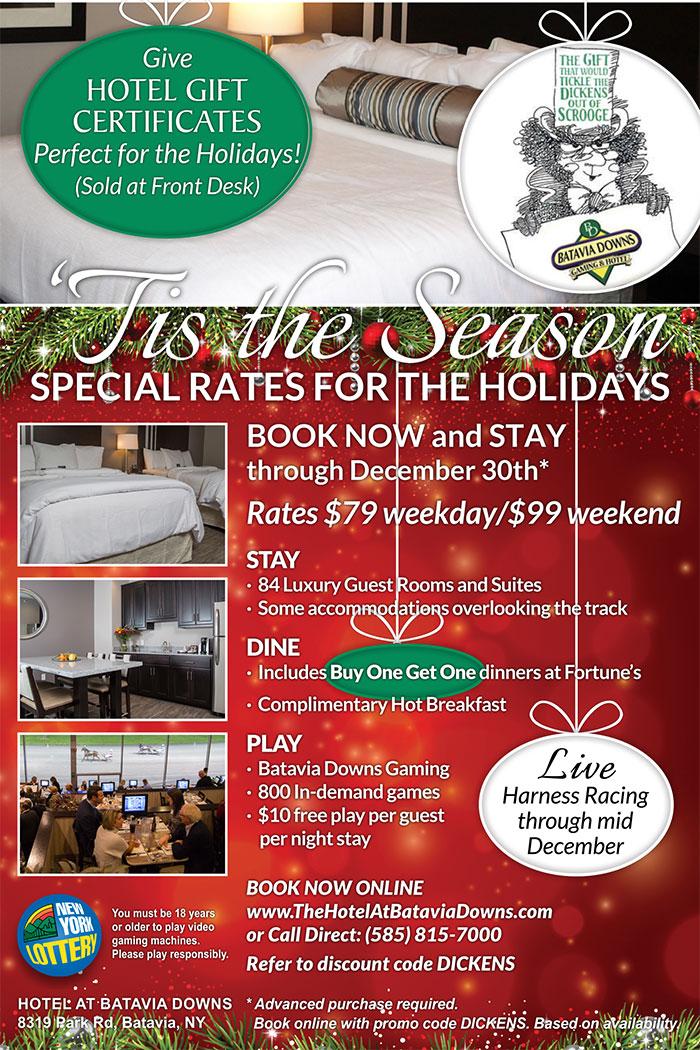 December deal Hotel at Batavia Downs
