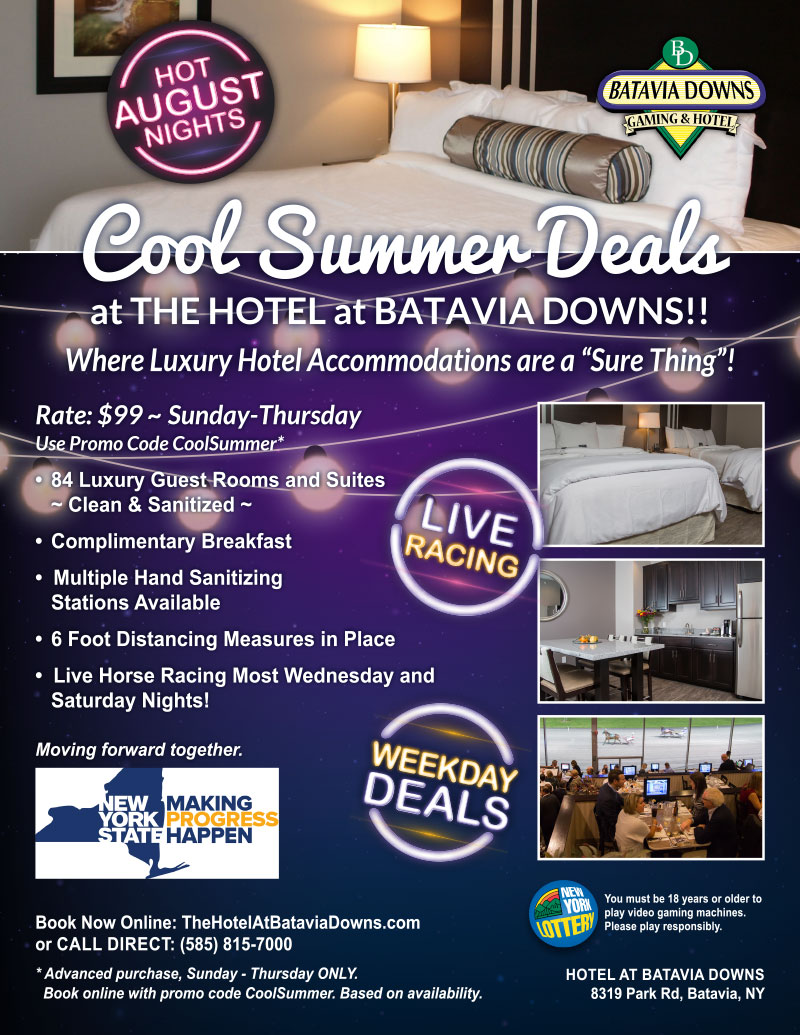 cool august deals at the hotel at batavia downs