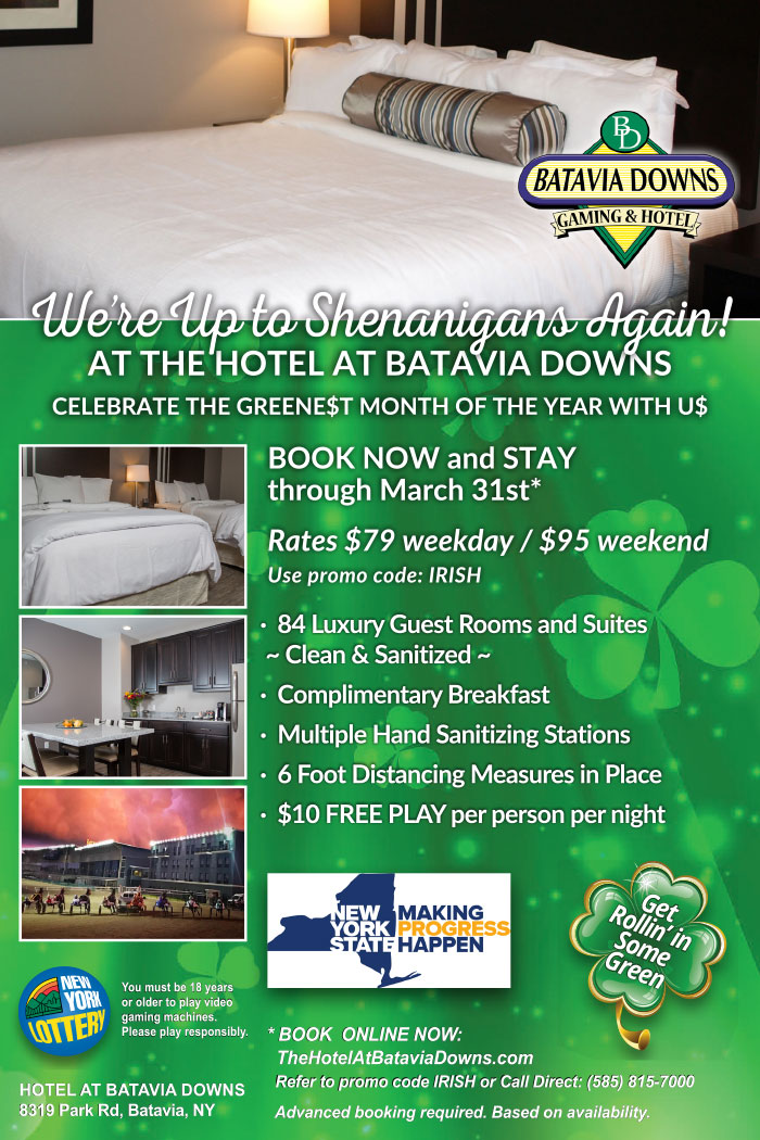 March specials the Hotel at Batavia Downs