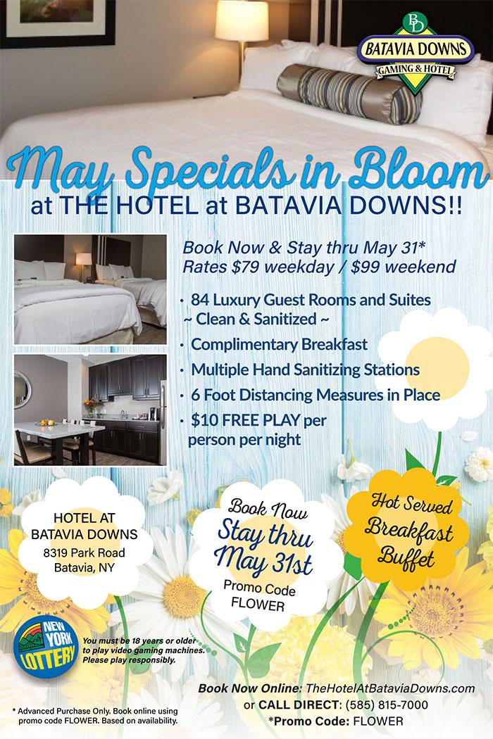 May Specials in Bloom at the Hotel at Batavia Downs