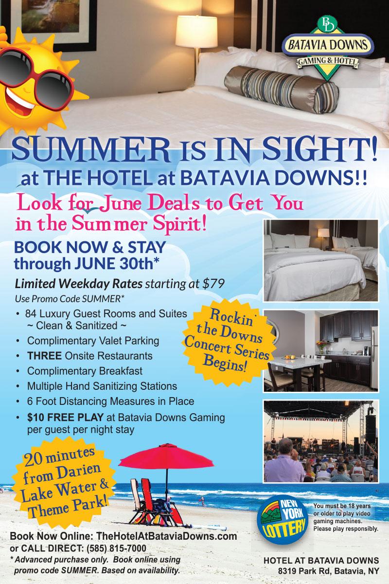 June specials at The Hotel at Batavia Downs